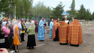 11 мая 2009 год. Молебен на строительство нового храма.