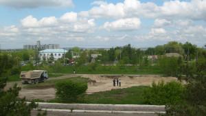 Май 2009 г. На месте будущей церкви началась расчистка участка под строительство.